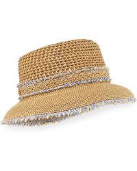 Eric Javits - Lulu Woven Squishee Bucket Hat - Lyst
