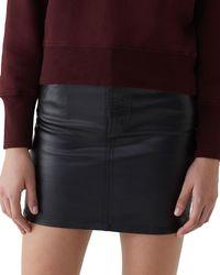 Agolde - Lydia 5-pocket Mini Skirt With Leatherette Coating - Lyst