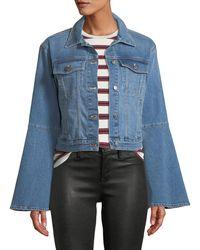 Joe's Jeans - The Bell Sleeve Cropped Denim Trucker Jacket - Lyst