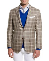 Kiton - Plaid Cashmere-silk Three-button Sport Coat - Lyst