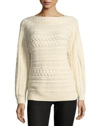 Ralph Lauren Collection - Cable-knit Dolman-sleeve Cashmere Sweater - Lyst