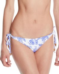 5f0d107e45 Letarte - Reversible Elephant stripes Tie Bikini Bottom - Lyst