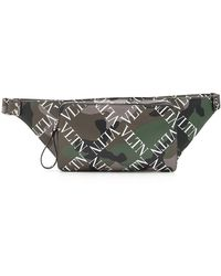 Valentino - Men's Camo-pattern Logo-print Leather Belt Bag - Lyst