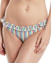 Solid & Striped - Milly Seersucker Hipster Swim Bikini Bottoms - Lyst