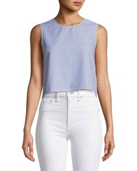 Club Monaco - Caleigh Cropped Button-back Top - Lyst