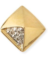 Sydney Evan | Gold & Diamond Pyramid Single Stud Earring | Lyst