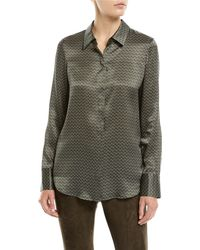 Lafayette 148 New York - Scottie Boundless-buds Long-sleeve Silk Blouse - Lyst