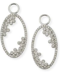 Jude Frances - Provence 18k Open Oval Earring Charms With Diamonds - Lyst