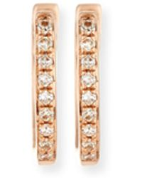 EF Collection - Mini Diamond Huggie Earrings - Lyst