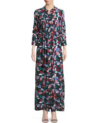 Equipment - Britten Floral-print Silk Maxi Dress - Lyst