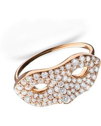 Monica Rich Kosann   18k Rose Gold Mask Ring   Lyst