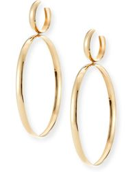 Lana Jewelry - Bubble Large Hoop Drop Earrings - Lyst