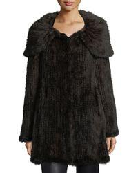 Belle Fare - Mink Fur Oversized-collar Coat - Lyst