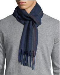 Paul Smith - Multi-stripe Wool Scarf - Lyst