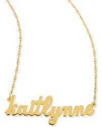 Jennifer Zeuner - Serafina Personalized Mini Nameplate Necklace - Lyst
