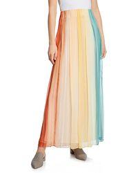 Iris Von Arnim - Frida Rainbow Crinkle Chiffon Pleated Maxi Skirt - Lyst