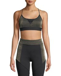 Koral Activewear - Trifecta Versatility Metallic Sports Bra - Lyst