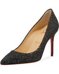 d75df92f15a6 Lyst - Christian Louboutin Decollete 554 Mid-heel Metallic Fabric ...
