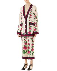 Gucci - Mini Jardin De Rose Pajama-style Trousers With Web Detail - Lyst