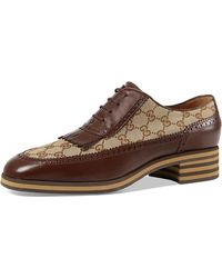 Gucci | Thomson Gg Supreme Lace-up Brogue Shoe | Lyst