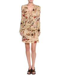Tomas Maier - Cosmic Floral Long-sleeve Wrap Blouse - Lyst