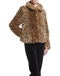 Alice + Olivia | Jerrie Leopard-print Faux-fur Coat | Lyst