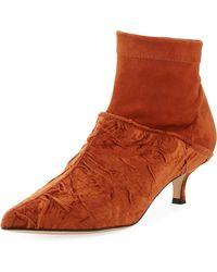 Tibi - Jean Velvet Point-toe Boot - Lyst