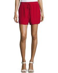 Robert Rodriguez - Relaxed Low-rise Drawstring Silk Shorts Crimson - Lyst