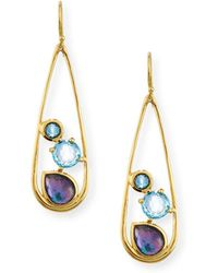 Ippolita - 18k Rock Candy Drop Dangle Earrings In Midnight Rain - Lyst