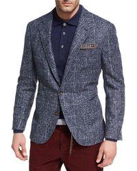 Brunello Cucinelli - Houndstooth Boucle Sport Jacket - Lyst