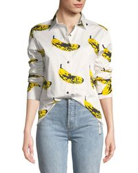 Libertine - Long-sleeve Banana-print Blouse - Lyst