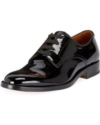 Givenchy - Men's Rider Lace-up Derby Shoes In Leather - Lyst