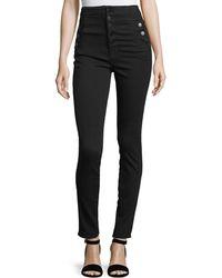J Brand - Natasha Sky High Skinny Jeans In Seriously Black - Lyst