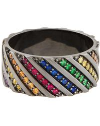 Lana Jewelry | Electric Rainbow Sapphire Band Ring In 14k Black Gold | Lyst