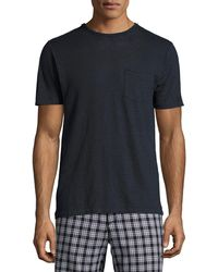 Rag & Bone - Owen Heather Linen Pocket T-shirt - Lyst
