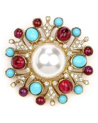 Ben-Amun - Cluster Brooch W/ Pearly Center - Lyst