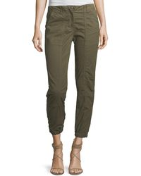 Veronica Beard - Field Cropped Stretch-cotton Cargo Pants - Lyst