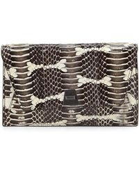 Akris - Anouk Mini Watersnake Chain Envelope Clutch Bag - Lyst