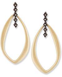 Armenta Old World Midnight Oval Crivelli Earrings with Diamonds GUdokL9kSH