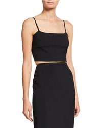 2826befa32210 T By Alexander Wang - Washable Wool Square-neck Crop Top - Lyst