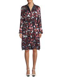 Lafayette 148 New York - Calleigh Geometric-print Duster Dress - Lyst