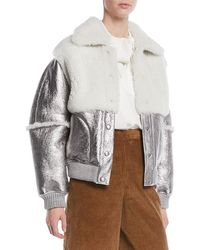 631fb2fa Lyst - Women's See By Chloé Leather jackets Online Sale