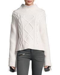 Rag & Bone - Ida Two-tone Cashmere Sweater - Lyst