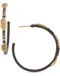 Armenta - 18k & Midnight Diamond Scrolls Hoop Earrings - Lyst
