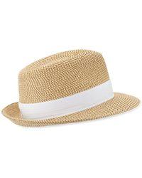 Eric Javits - Squishee Classic Woven Fedora Hat - Lyst