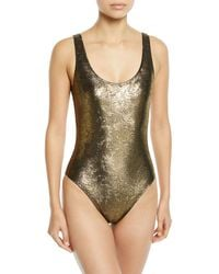 Marie France Van Damme - Metallic Jacquard Maillot One-piece Swimsuit - Lyst