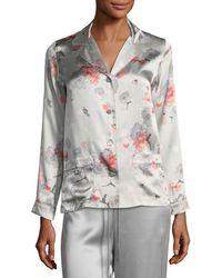 Meng - Floral-print Long-sleeve Pyjama Top - Lyst