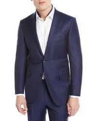 Ermenegildo Zegna Solid Summer Trofeo Wool/Linen Two-Piece Suit Clearance Low Cost y8Du3f
