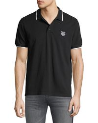 KENZO - Men's Tipped-trim Cotton Polo Shirt - Lyst