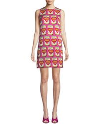 Dolce & Gabbana - Can Of Amore A-line Silk Dress - Lyst
